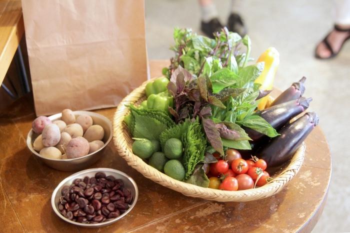 ある週のパック内容。その時々で食べ頃の野菜がセレクトされる。